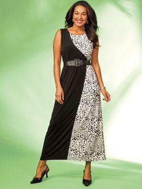 Animal Print Maxi Dress by Regalia®