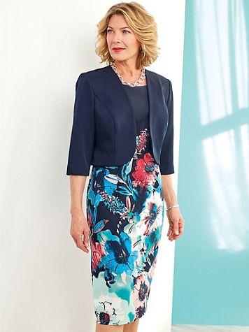 Floral Print Jacket Dress - Image 4 of 4