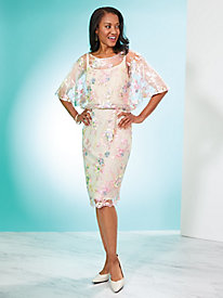 Embroidered Popover Dress