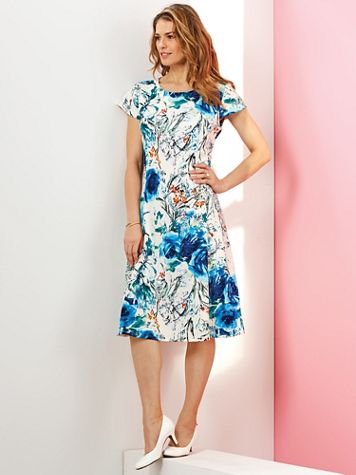 Floral Print Knit Dress - Image 2 of 2