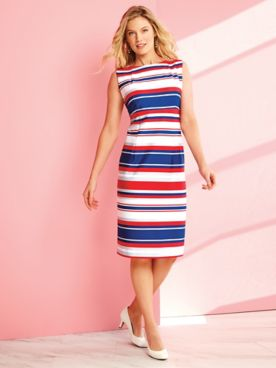 Nautical Striped Sheath Dress