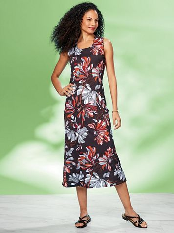 Floral Print Dress by Regalia® - Image 4 of 4