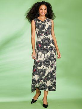 Print Maxi Dress by Regalia®