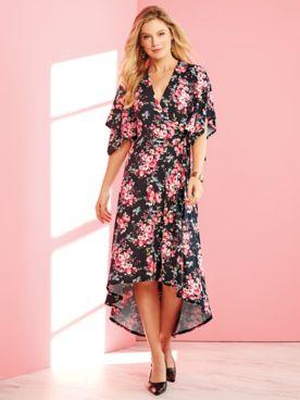 ABG Kimono Sleeve Print Dress