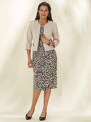 Animal Print Jacket Dress