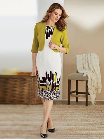 Abstract Print Jacket Dress - Image 0 of 3