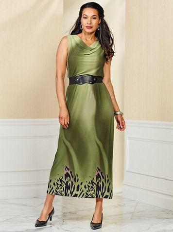 Print Knit Maxi Dress by Regalia®