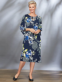 Royal Street Floral Print Dress By Alfred Dunner®