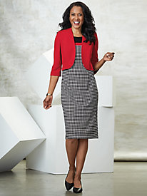 Houndstooth Jacket Dress