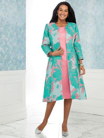 Jacquard Duster Jacket Dress