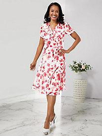 Ruffle Print Dress