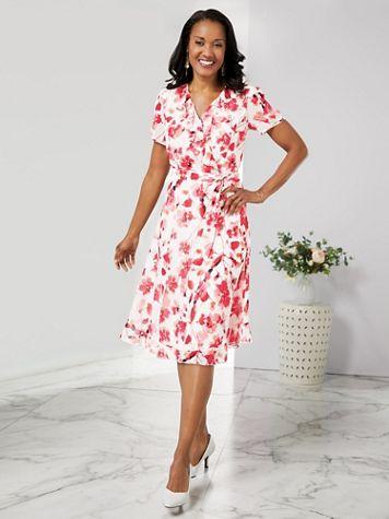 Ruffle Print Dress - Image 2 of 2