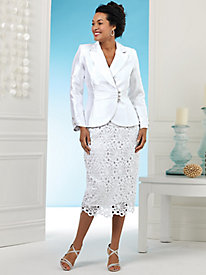 Sunburst Lace Skirt Suit