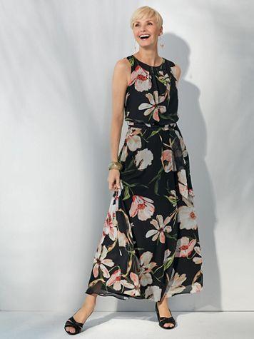 Floral Print Chiffon Dress - Image 2 of 2