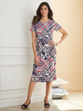 Versatile Puff Print Dress