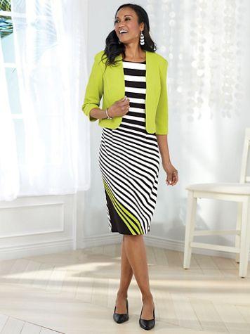 Stripe Jacket Dress