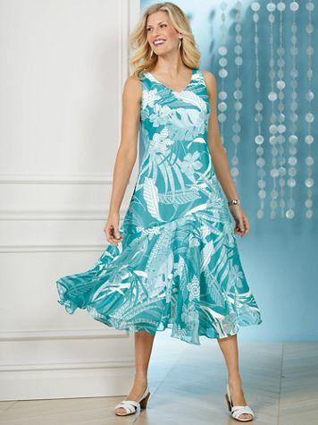 Print Chiffon Dress