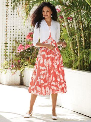 Cotton Sundress and Ponté Knit Shrug