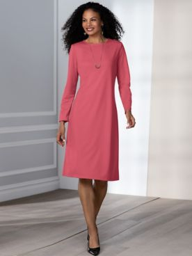 Ponté Knit A-Line Dress