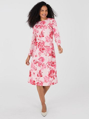Ponté Knit A-Line Dress - Image 0 of 3