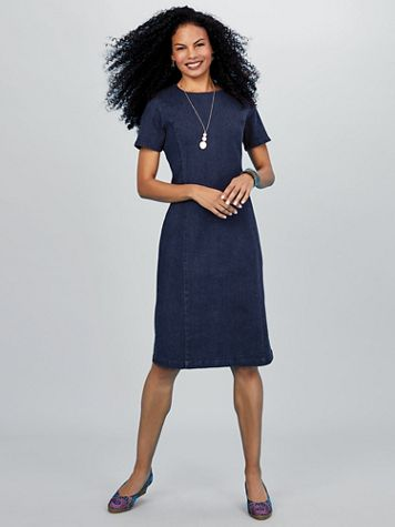 Koret® Stretch Denim Dress - Image 1 of 5