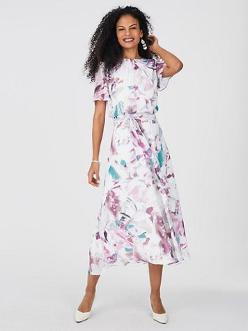 Floral Watercolor Dress - Image 3 of 3