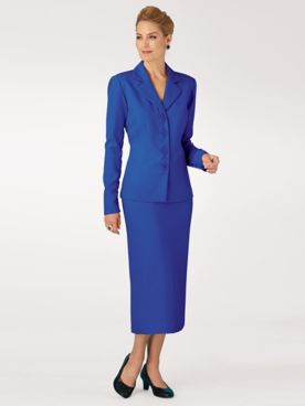 Koret® Ruffel Back Skirt Suit