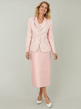 Floral Print Skirt Suit