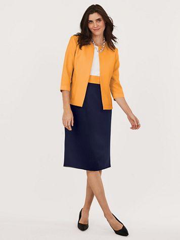 Sheath Colorblock Jacket Dress - Image 1 of 6