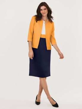 Sheath Colorblock Jacket Dress