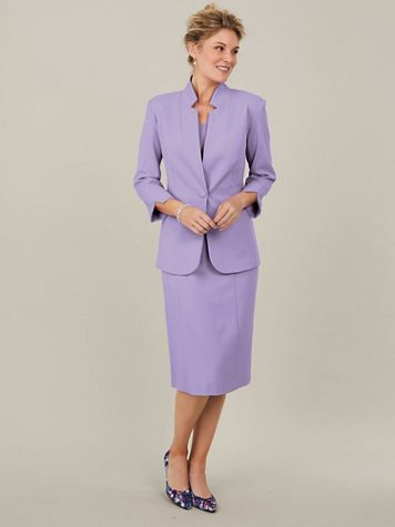 Koret® Textured Crepe Jacket Dress