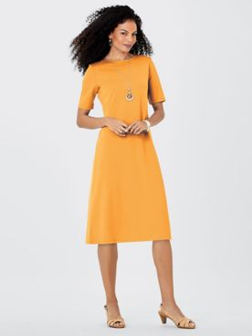 Koret® Elbow-Sleeve Ponté Dress