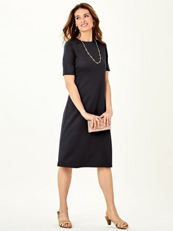 Koret® Elbow-Sleeve Ponté Dress - Image 5 of 5