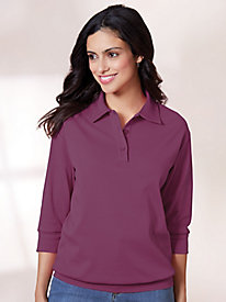 Banded Bottom Polo Top