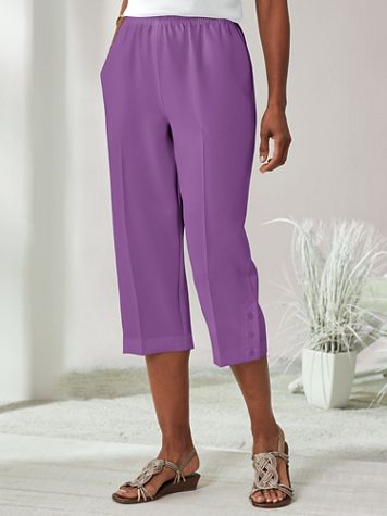 Alfred Dunner® Capris with Button Detail