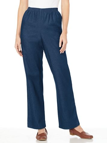 Alfred Dunner® Denim and Twill Jeans - Image 1 of 8