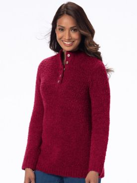 Cuddle Boucle Pullover Sweater