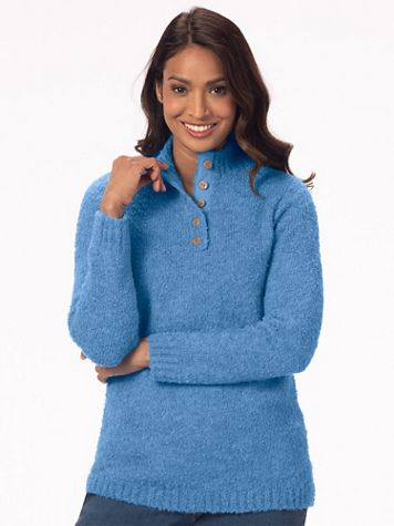 Cuddle Boucle Pullover Sweater - Image 1 of 11