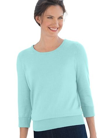 Hepburn 3/4 - Sleeve Sweater - Image 1 of 25