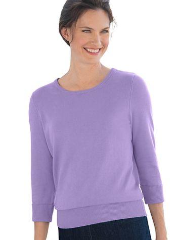 Hepburn 3/4 - Sleeve Sweater - Image 1 of 18
