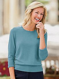 Three-Quarter Sleeve Hepburn Sweater by Appleseed's