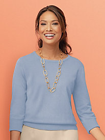 Three-Quarter Sleeve Hepburn Sweater