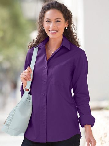 Foxcroft® Classic-Fit Wrinkle-Free Long-Sleeve Shirt - Image 1 of 30