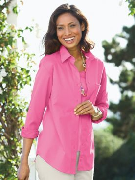 Foxcroft® Classic-Fit Wrinkle-Free Long-Sleeve Shirt