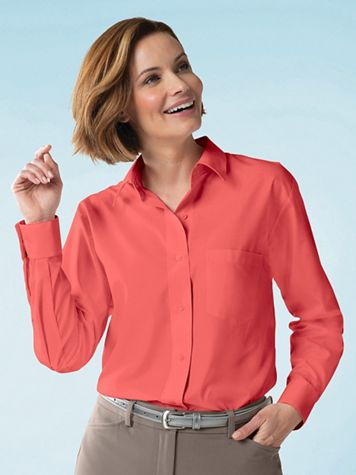 Foxcroft® Classic-Fit Wrinkle-Free Long-Sleeve Shirt - Image 1 of 47