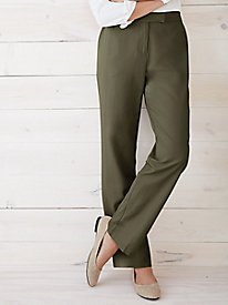 Silk Cotton Twill Easy-On Pant