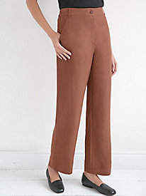 Silk Linen Straight Leg Pants