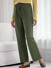 Silk Linen Pull-on Pants