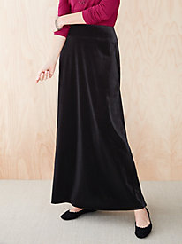 Stretch Velvet Skirt