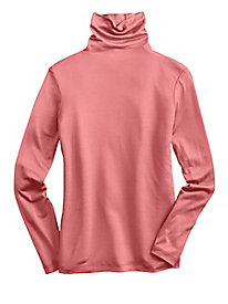 Pure Silk Mid Weight Long Sleeve Funnel Neck Top
